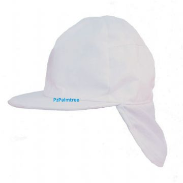 Baby Toddler Sun Hat Legionnaire White Cap 12 to 18 months 48cm